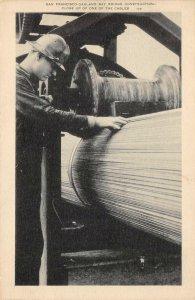San Francisco-Oakland Bay Bridge Construction California 1937 Vintage Postcard