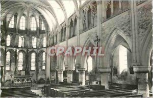 Postcard Modern Chapel Interior of Crecy XIII XIV century Church