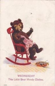 Bear In Rocking Chair Wednesday This Little Bear Mends Clothes 1907