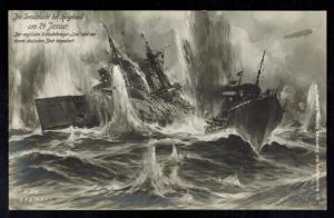 Mint Pictur Postcard Germany Britain Navy Kriegsmarine WW 1 Helgoland Sea Battle