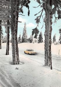 GG12016 Der Harz ein Erlebnis Fahrt ins Schneeparadies Auto Forest Road Winter