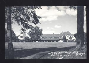 RPPC ANGOLA INDIANA POTAWATOMI INN POKAGON STATE PARK REAL PHOTO POSTCARD