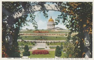 SALT LAKE CITY, Utah, 1900-10s; Memory Park from Memorial Tablet and Dome of ...