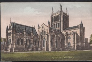 Herefordshire Postcard - Hereford Cathedral      RT776
