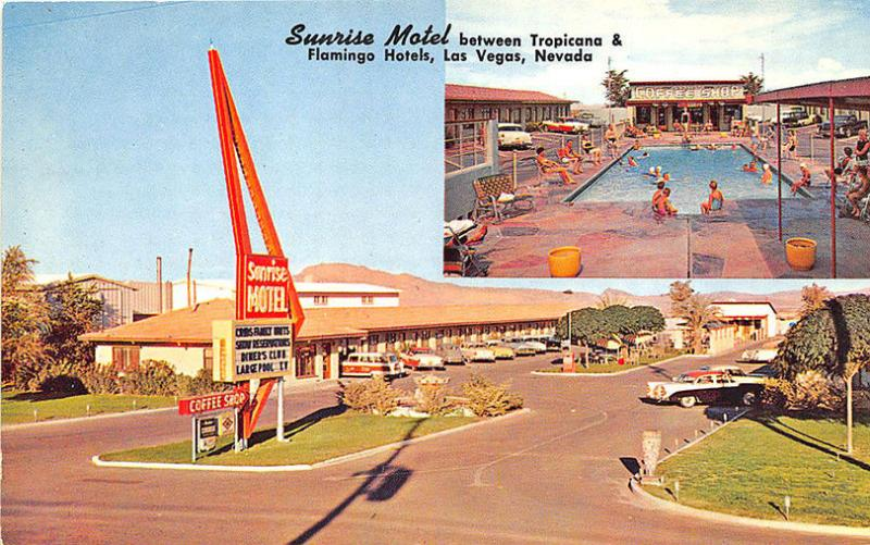Las Vegas NV Sunrise Motel Tropicana & Flamingo Casinos Old