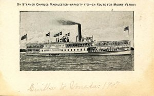 SS Charles Macalester en route to Mt. Vernon on the Potomac River (Private ...