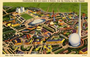 NY - 1939 New York World's Fair. Aerial View Painting by John Wenrich