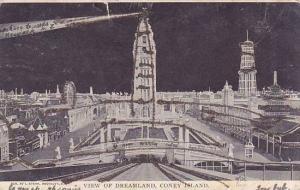 New York City Coney Island View Of Dreamland 1905