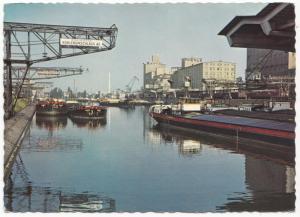 Switzerland, Basel, Rheinhafen, unused Postcard