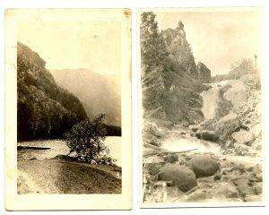 2 RPPC's - Unknown Lake and Falls (probably NY state)   *RPPC