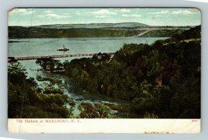 Marlboro NY-New York, The Hudson River Vintage Postcard