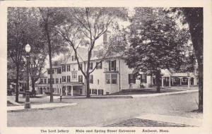 Massachusetts Amherst The Lord Jeffery Main And Spring Street Entrances Alber...