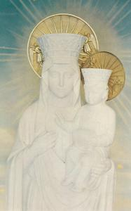 WORCESTER, MA, 50-60s; Original Statue at Our Lady of Czestochowa Shrine