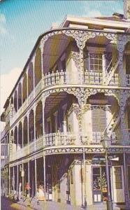 Louisiana New Orleans Lace Balconies At Royal And Saint Peter Streets Typical...