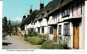 postcard ANNE BOLEYN COTTAGES, WENDOVER, BUCKS used 1973