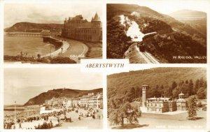 Vintage 1962 Wales Multi View Postcard, Aberystwyth FI3
