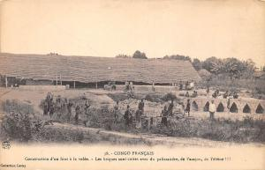 Congo Francais Construction d'un four a la volee rosewood bricks furnace ebony