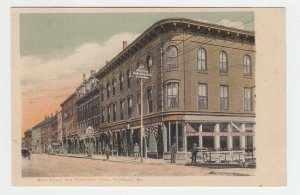 P2026 1906 postcard people buildings main street &thorndike hotel rockland maine