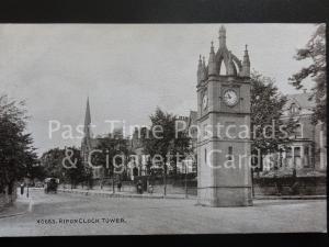 Yorkshire: Ripon Clock Tower - Pub by Photochrom Co No.40663
