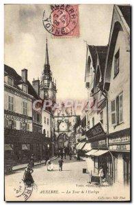 Old Postcard Auxerre La Tour L & # 39Horloge