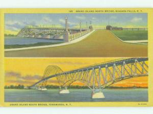Unused Linen BRIDGE SCENE Niagara Falls New York NY HQ9809