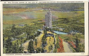 Colorado Springs WILL ROGERS SHRINE of The Sun of Cheyenne mountain 1930/40s