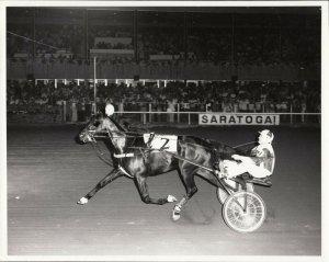 SARATOGA Raceway Harness Horse Race , GRACIOUS TATLER wins 1977
