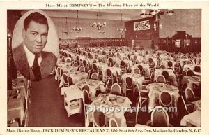 Jack Dempsey's Restaurant Madison Square Garden, NY, USA 1936