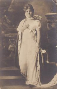 RP, Elegant Woman Posing With A White Dress, PU-1904