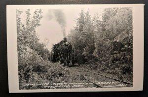 Mint Vintage Huron Mountain Railroad Marquette Michigan Real Photo Postcard RPPC