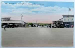 VINTAGE 1916 POSTCARD STREET SCENE SHOWING FAIR TIJUANA MEXICO