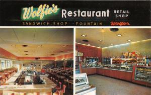 St Petersburg Florida~Wolfie's Restaurant & Retail Bake Shop Views~1959 Postcard