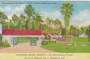 Florida Jacksonville Colonial Hotel Courts 1952