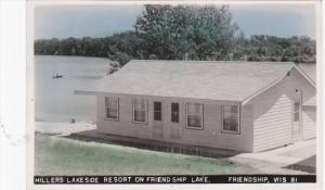 Hand Colored RP: Millers Lakeside Resort on Friendship Lake, Friendship, Wisc...