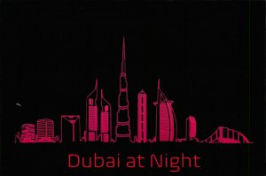 NEW Postcard, DUBAI Middle East by Night, Humor, Novelty, Fun, Funny HC8