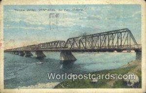 Victoria Bridge, Le Pont Victoria Montreal Canada 1925 Missing Stamp