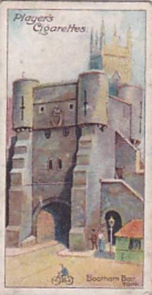 Player Vintage Cigarette Card Celebrated Gateways 1909 No 14 Bootham Bar York
