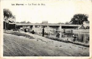 CPA La Marne Le Pont de Bry (600159)