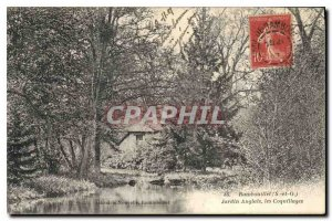 Old Postcard Rambouillet S and O English Garden Seashells