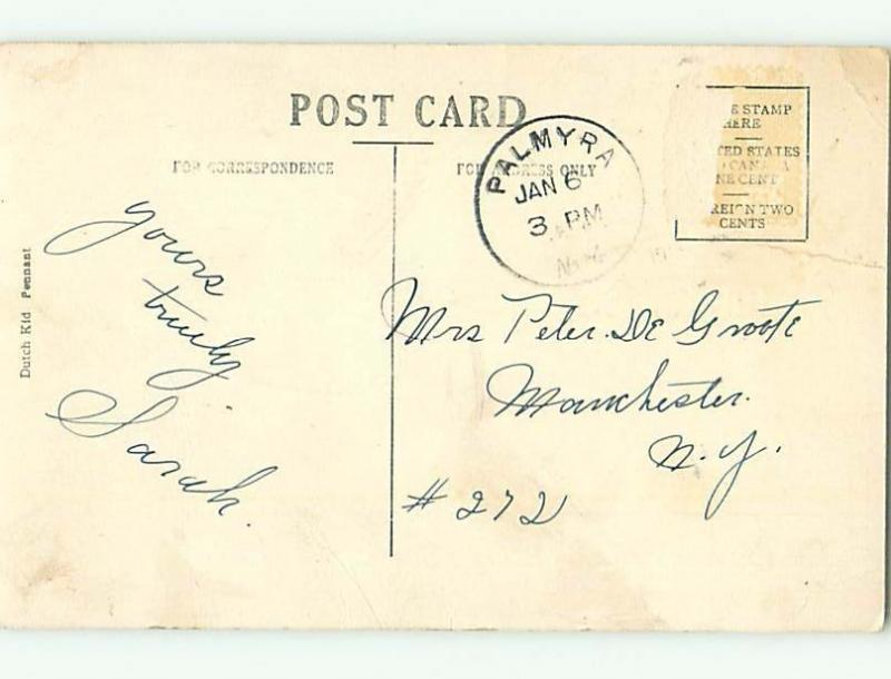 Divided-Back COMIC POSTCARD Palmyra New York NY HM4768