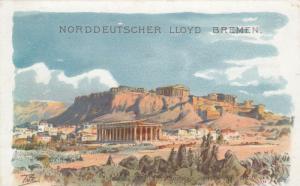 ATHENS , Greece , 1900-10s; Theseustempel und Akropolis