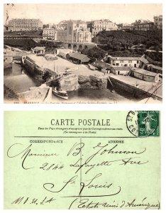 Biarritz-Le Port Des Pecheurs et l'Eglise Sainte-Eugenie