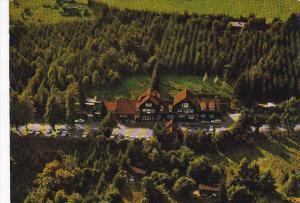 Germany Bischofsheim Rhoenhaeuschen Berggasthof und Pension inmitten der hohe...