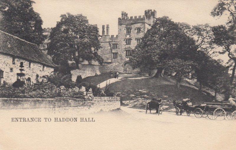 DERBYSHIRE, England, UK, PU-1903; Entrance to Haddon Hall, TUCK Series 321 III