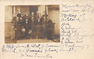F15/ Eau Claire Wisconsin RPPC Postcard District Ministers 1906