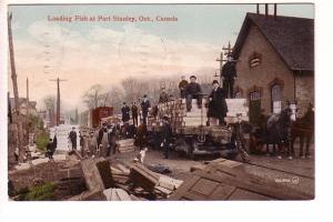 Loading Fish, Horses, Port Stanley, Ontario,