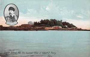 Eagle Island Maine Summer Home of Robert Peary Antique Postcard J48884