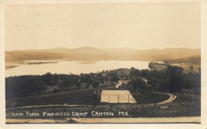 Canton ME View From Pinewood Camp Real Photo Postcard