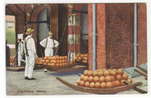 Cheese Market Alkmaar Noord Holland Netherlands 1910c postcard