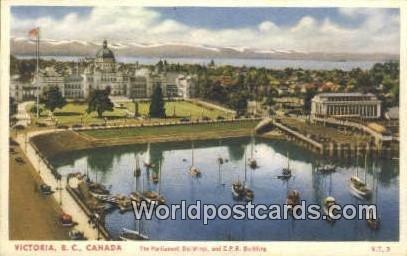 Parliament Buildings, CPR Building Victoria British Columbia, Canada Unused